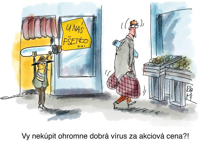 vírus kresba