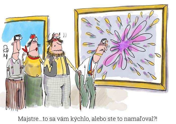 umenie cartoon