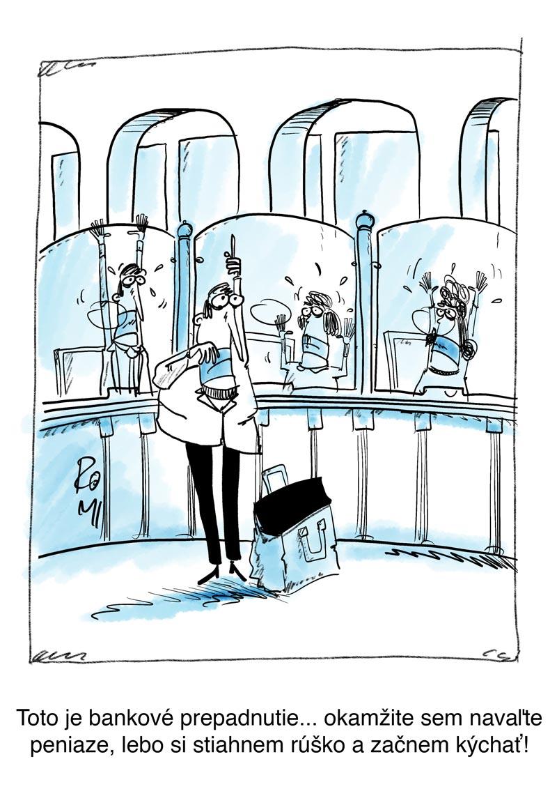 bank cartoon corona