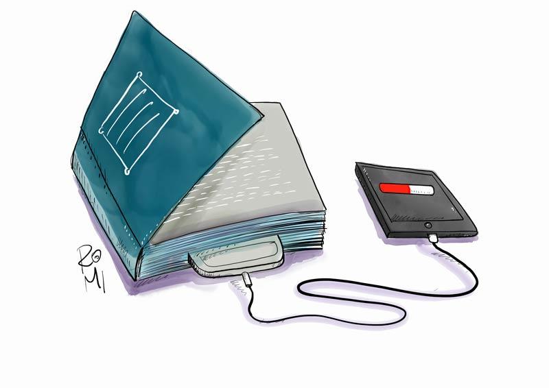 nabijanie knihy